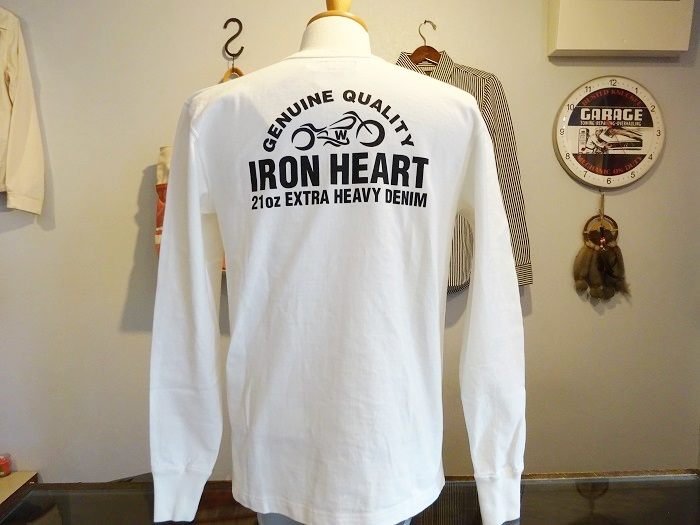 "IRON HEART 10oz プリントロングTシャツ ""ロゴ""(IHTL-1502)"