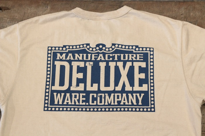 """DELUXE WARE(デラックスウエア) プリントロンT """"DELUXEWARE.CO"""" BRG-18C"""